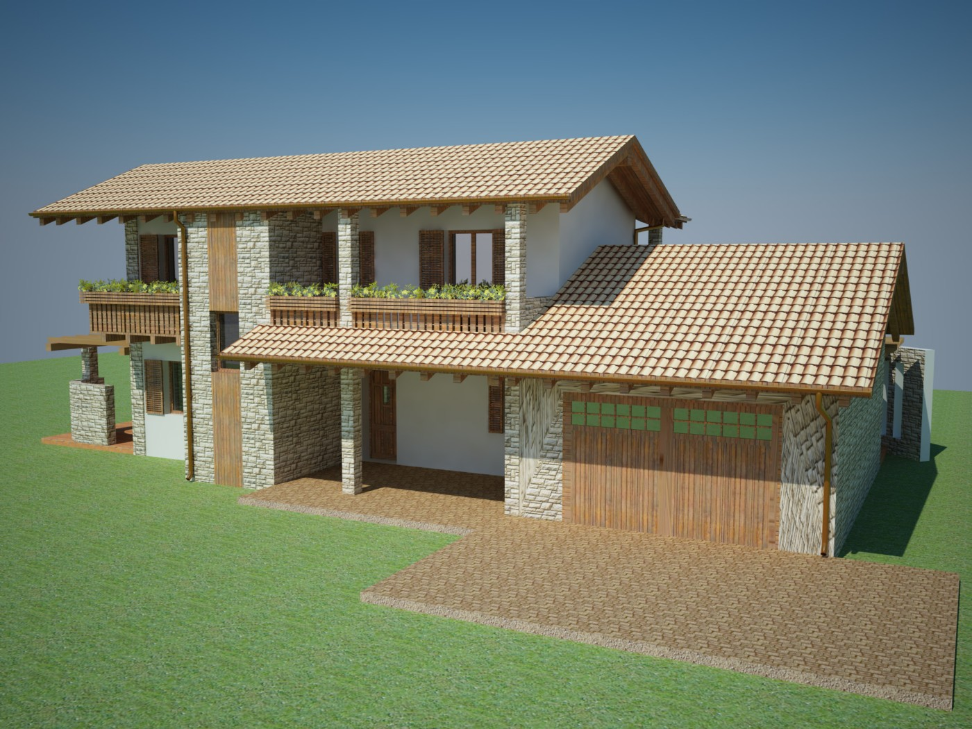 Vendita villa singola peveragno for Due garage di storia in vendita